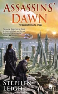 Cover of Assassin's Dawn, the Hoorka trilogy omnibus by Stephen Leigh