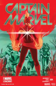 Cover of Kelly Sue DeConnick's Captain Marvel, issue #4