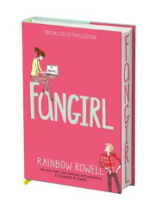 Cover of the special UK Collectors Edition of Fangirl by Rainbow Rowell