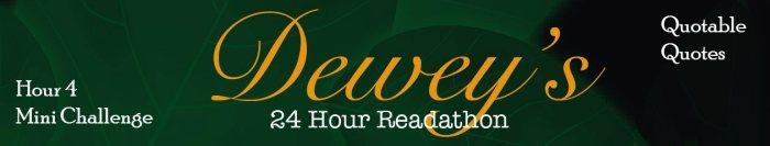Dewey's Readathon Banner