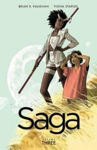 Cover of Saga vol 3 by Brian K. Vaughan and Fiona Staples