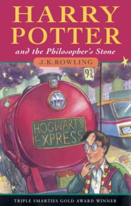 Cover of Harry Potter and the Philosopher's Stone by J.K. Rowling